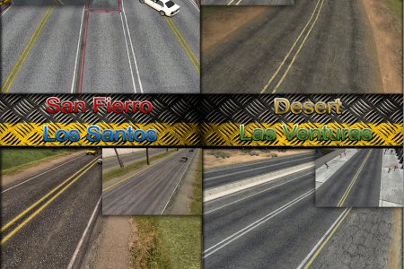 GTA San Andreas New HQ Roads