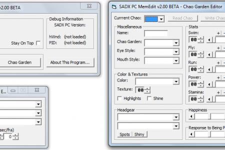 Sonic Adventure DX Memory Editor v2.00