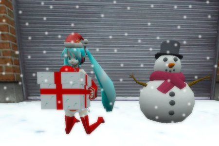 Christmas Hatsune Miku for SAS