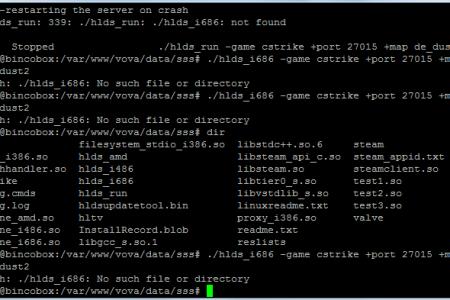 Исправление hlds_i686 или hlds_i486 not found (не найдено)