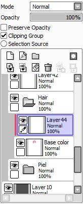 Раскрашиваем волосы в Paint Tool SAI