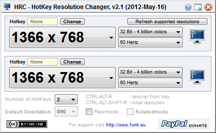 HRC - HotKey Resolution Changer v2.1