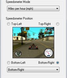 GTA: San Andreas Speedometer Mod