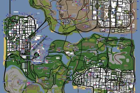 Карты GTA San Andreas