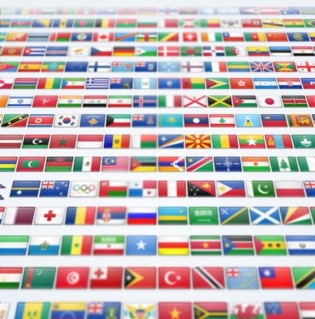 Набор иконок флагов 2600 штук