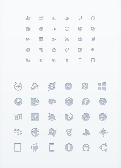 Набор иконок программ 30 штук