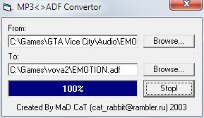 MP3  ADF Convertor