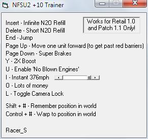 Трейнер Need for Speed: Underground 2 [+10]