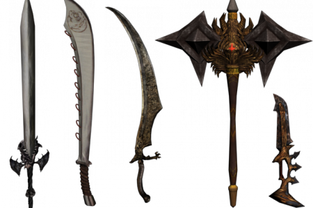 Weapons from Devil May Cry 4