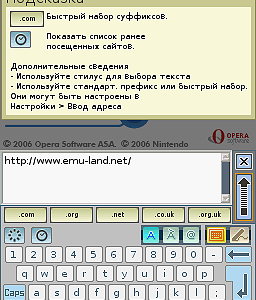 Русификатор Nintendo DS Web Browser [NDS]