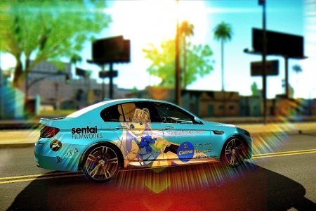 BMW M5 (F10) - Gochuumon Wa Usagi Desu Ka? для GTA SA