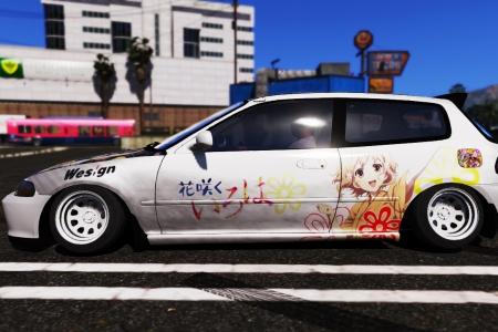Honda Civic 5gen Stance - Hanasaku Iroha для GTA 5